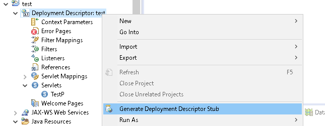 EclipseでJsp、Servlet作成(web xml)